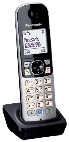 Panasonic KX-TGA681EXB Mobilteil für KX-TG68xx Serie inkl. Ladeschale schwarz