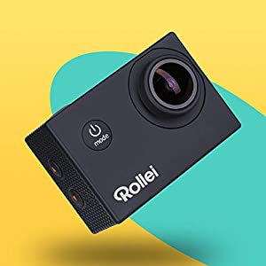 Rollei Actioncam Fun WiFi Action Camera with 4K Video Resolution and Wide Angle Lens 2 Inch LCD Display Loop Time Lapse Slow Motion 20 MP Camera Waterproof up to 40 m Black