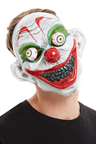 Smiffys 52158 Clown-Maske, Herren, Weiß