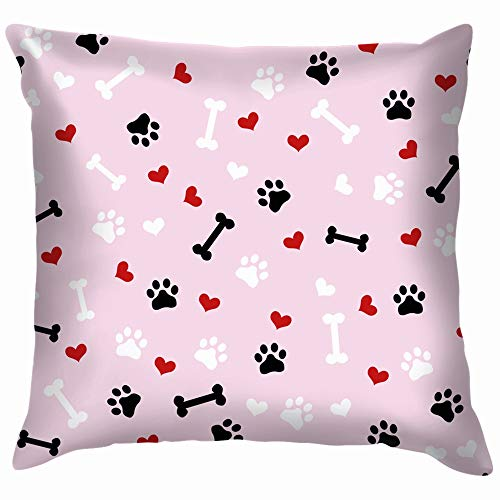 vintage cap Cute Black White Red Dog Throw Pillow Case Cushion Cover Pillowcase Watercolor for Couch 18X18 Inch -