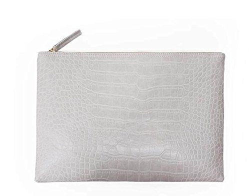 FZHLY Clutch Bag Einfaches Krokodil-Muster-Dinner-Paket White