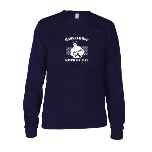 Hasselhoff saved my Life - Herren Langarm T-Shirt Dunkelblau
