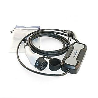 Ladegerät Wallbox tragbar BSPC Serie 1 Phasig Schuko Stecker 230V 3,6 kW 16A Typ 2 5 Meter für Elektrofahrzeuge