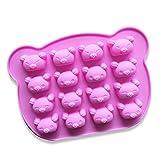 Koala Bär Kuchenform Silikon Form für Süßigkeiten, Schokolade, Backform, 16 Mulden