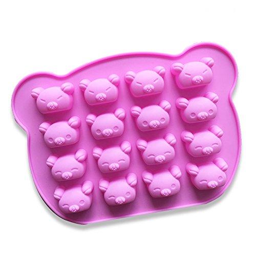 Hemore Koala Bär Kuchen Form Silikon Form für Candy Schokolade Bakeware Form 16Vertiefungen