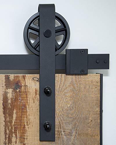Schiebetürsystem Speichenrad 200 cm - komplettes Set mit Laufrollen und Schiene - 2 Meter Schiebetürsystem Speichenrad (Schiebetür-schiene-system)