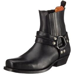 Dockers - Botas de cuero para hombre, color negro, talla 41