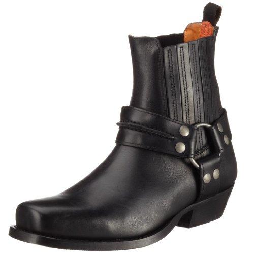 Dockers by Gerli 170102, Herren Stiefel, Glattleder, Schwarz (schwarz 001), 42 EU (Sneaker Cowboy Stiefel)
