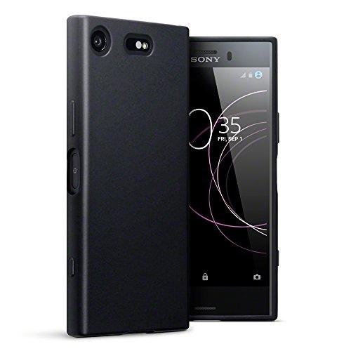 Terrapin, Kompatibel mit Sony Xperia XZ1 Compact Hülle, TPU Schutzhülle Tasche Case Cover - Matt Schwarz