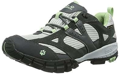 Jack Wolfskin  VOLCANO LOW TEXAPORE WOMEN, Chaussures de randonnée femme - Gris - Grau (soft green), 42.5 EU