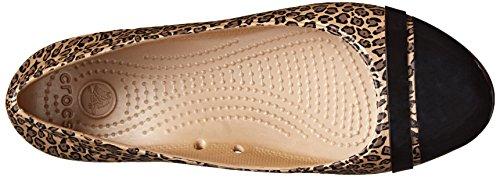 Crocs Cap Toe Leopard Print Flat Black/Gold