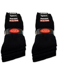 10 Paar Sportsocken Arbeitssocken Tennissocken - Schwarz, Weiß, Hellgrau, Anthrazit, Gemischt 35-50