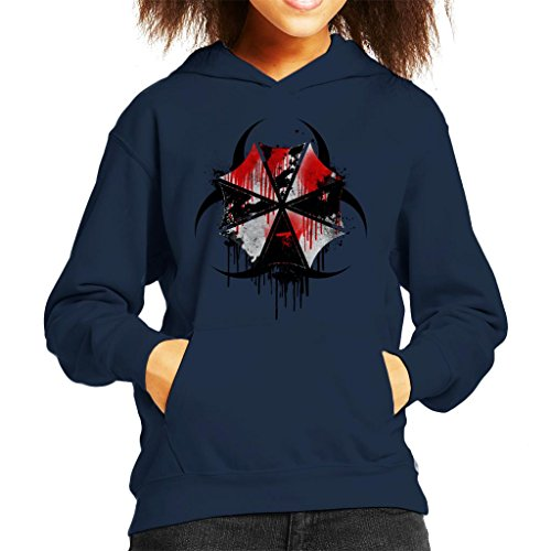 Resident Evil Umbrella Corp Blood Splatter Kid's Hooded Sweatshirt