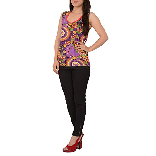 Skirts & Scarves Moss Crepe Sleeveless Top for Women(Length-24inches)
