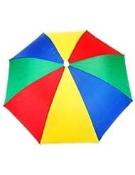 Dcolor Neuartig Regenschirm Hut Kappe Muetze fuer Golf Angeln Camping