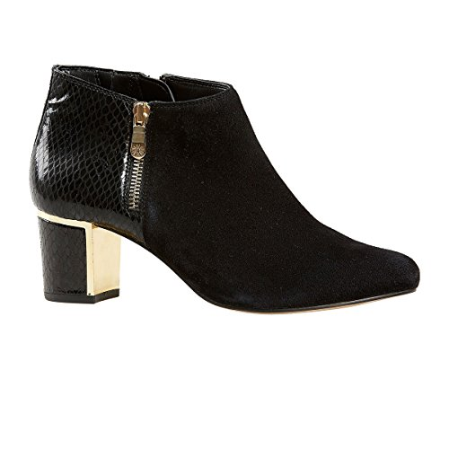 Van Dal Shoes Womens Arial II Boots in Black Suede / Snake...