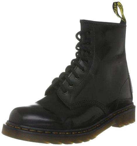 Dr Martens 10072026  Unisex - Erwachsene Schnürstiefel, Schwarz, 43 EU / 9 UK (Womens Boot Martens Original 1460)