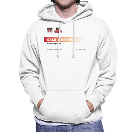 Gale Weathers News Reporter Business Card Men's Hooded Sweatshirt ()
