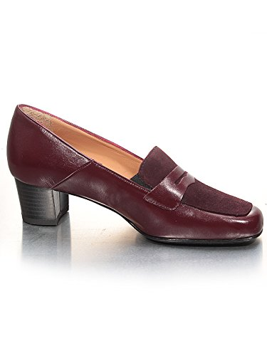 Marion Spath Damen 338-561 Glattleder Komfortabler City-Slipper Bordeaux