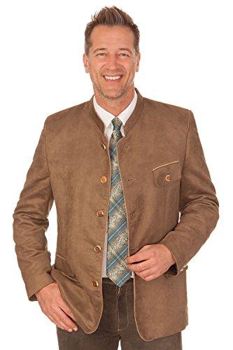 orbis Textil Trachten Herren Sakko - VELOUR/Stehkragen - braun, Größe 26