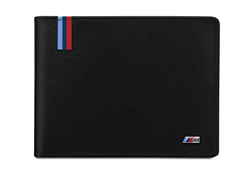 Price comparison product image BMW Genuine Mens M Collection Wallet Coin Holder Black Leather 80212410935