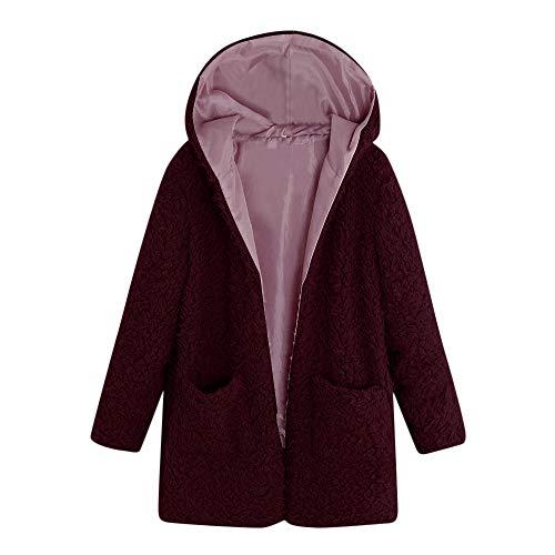 i-uend 2019 Damen Mantel, Winterjacke Mit Kapuze Warm -