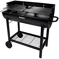 Perel BB100110 Grill, Party Fass, Schwarz