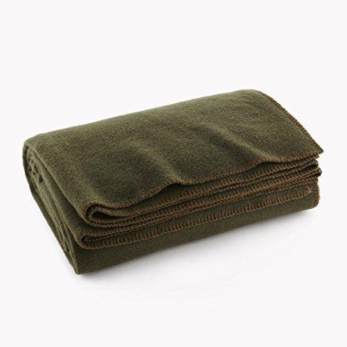 Olive Drab verde cálido lana manta ignífuga.