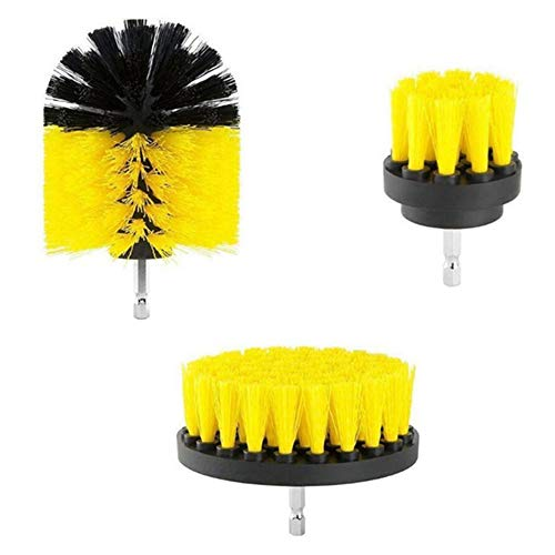3 Pcs Drill Brush Power Scrubber Cleaning Kit for Grout, Floor, Tub, Shower, Tile, Bathroom and Kitchen Surface - Drill not Included