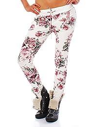 10557 Fashion4Young Damen Haremshose Hose Baggy Boyfriend Freizeithose Jogginghose Sporthose