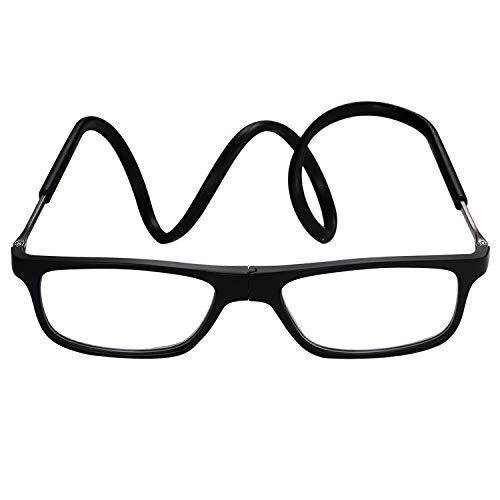 dcba21a03b Aroncent Gafas de Lectura Lentes Claras Plegable Magnético 180° Bisagra de  Silicona Ajustable Profesional para