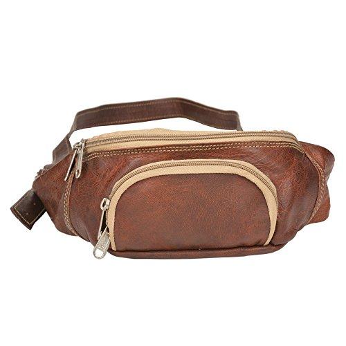 """Desierto ciudad """"BOLD riñonera cinturón de running Waistpack Vinatage & aspecto rústico marrón–riñonera dinero cinturón bolsa corredores para viajar senderismo por desierto ciudad"""