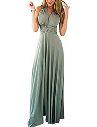 c8674ed09f Lover-Beauty Vestido Largo Mujer para Noche y Fiesta Casual Algodón Ropa  Top Falda Espalada