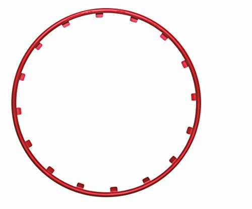 Rim Rimgz 63130 Alu-Felgenschutz 16 Zoll, Rot, 4-Teilig Rot 16-teilig