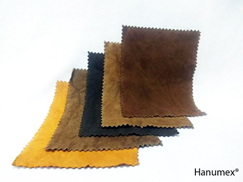 Hanumex® CHAMOIS LEATHER FOR DIGITAL CAMERA LENS CLEANER LENS FILTER BINOCULAR SUNGLASSES CLEANING (14 CM X 10 CM) Set of 5