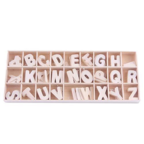 130 Stücke (je 5 Buchstaben), Natürliche Hölzerne Kleinbuchstaben Alphanumerische Handwerk Anhänger DIY Dekorative Hauptdekoration, Schule, Spiele, DIY