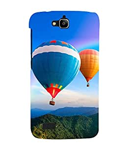 Hot Air Balloon 3D Hard Polycarbonate Designer Back Case Cover for Huawei Honor Holly