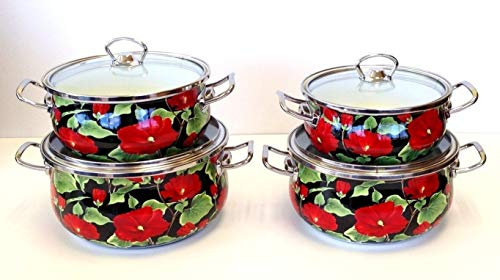 Uniware 5004 Super Quality Enamel Cookware Set(18/20/22/24cm)