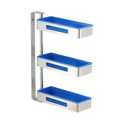 Storage rack. Küchengestell Ecke rotierendes Gewürzgestell Wand-Multifunktionslager Haushalt Punch-Free Herausnehmbare waschbar Up und Down-Einstellung (Farbe : E, größe : 59.4cm) -