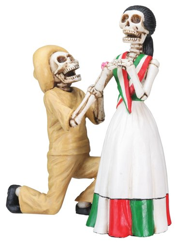 stealstreet Day of The Dead Dating Skelett Paar Figur ()