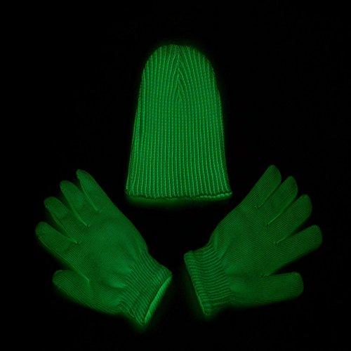 lzn Fluoreszierende Handschuhe Glowing in Dark Magic Nachtclub Party Leistung Requisiten (Dark In Glow The Handschuhe)