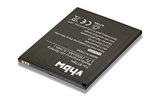 vhbw Li-Polymer Batteria 2500mAh (3.8V) per cellulari e smartphone Zopo 2A, 9515, C2, C3, ZP980, ZP980 Plus sostituisce BT78H.