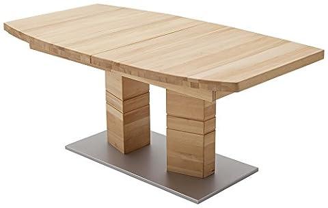Robas Lund Tisch Esstisch Massivholztisch Cuneo B Bootsform Kernbuche 140 x 90 x 77 cm