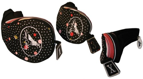 sassy-caddy-womens-set-of-flirty-golf-club-headcovers-hot-pink-light-pink-black-white