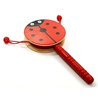 AeMBe - Holz Spielzeug - Trommel - Marienkäfer - Legespiel Lernspiel / Holz Spielzeug / Gedächtnisspiel für Kinder - Legespiel Anlegen - Motoric Übungen
