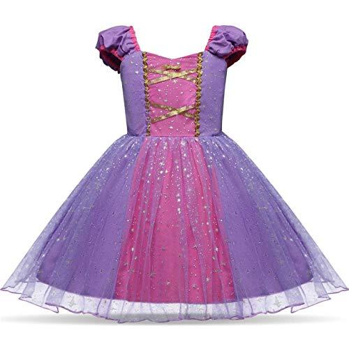 Rosa Kinder Kostüm Meerjungfrau Magische - Zorxu Kleid, Gänseblümchen-Prinzessin, Schneewittchen-Kleid, Rapunzel-Kleid, Meerjungfrau-Kostüme für Babys, Kleinkinder, Mädchen Gr. 100 cm, Rose