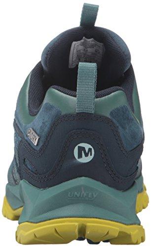 Merrell Leather Capra Bolt Imperméable À L'eau Des Chaussures Pour Femmes Excursion Sagebrush Vert
