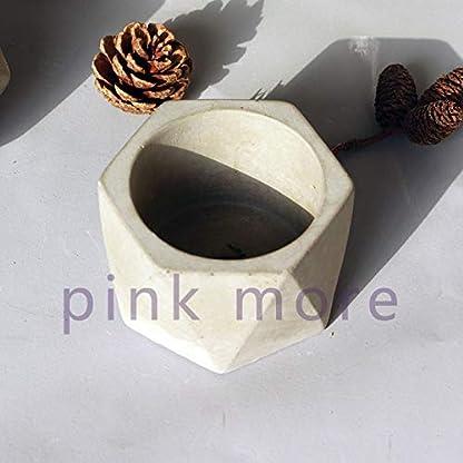 AHBEIMaceta de hormigón geométrica Molde de Silicona Cemento Molde de Maceta de jardín Molde de Maceta suculenta Molde de Yeso geométrico Simple1
