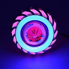 Idea Regalo - Moto LED Faro motore Spot Luci Lampadina Lampade di guida impermeabili con luci Angel Eyes 1200LM 30W Illuminazione multicolore opzionale (Color : A)
