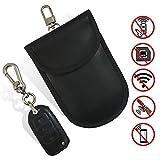 newhashiqi Sac de Blindage de Signal Double Couche RFID pour téléphone Portable avec Crochet et Boucle pour télécommande de Voiture